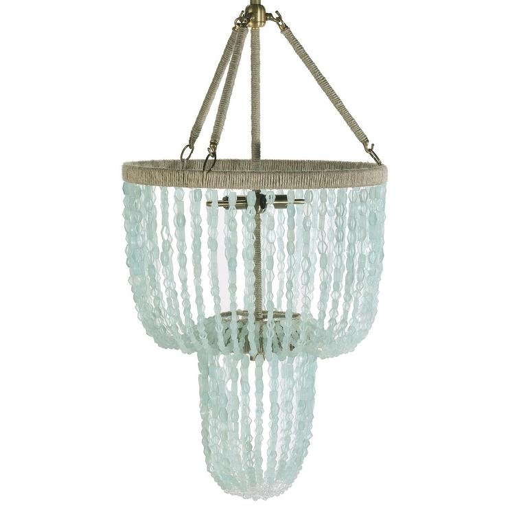 Ro Sham Beaux Lily Blue Quartz Chandelier For Turquoise Blue Beaded Chandeliers (Image 19 of 25)