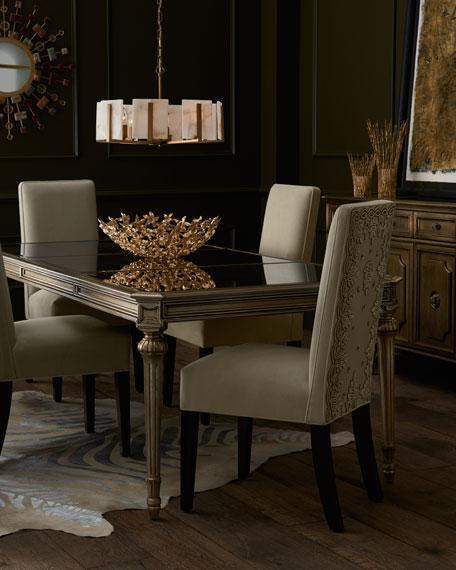 Roberta Antiqued Mirrored Dining Table Intended For Antique Mirror Dining Tables (Image 19 of 20)