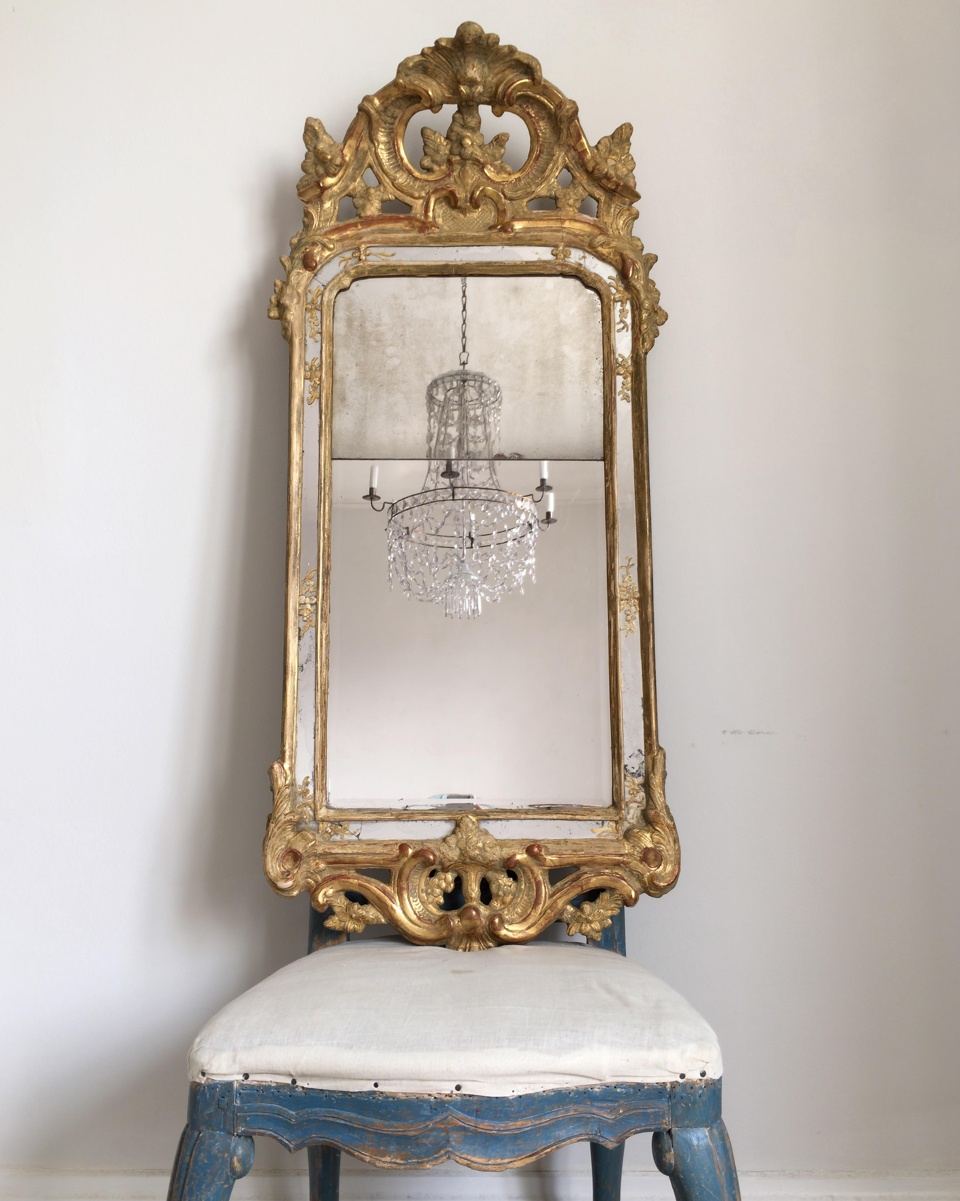 Rococo Mirror In Large Rococo Mirror (Image 18 of 20)