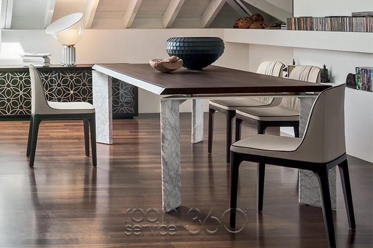 Roma Modern Dining Settonin Casa – Made In Italy With Roma Dining Tables And Chairs Sets (Image 13 of 20)