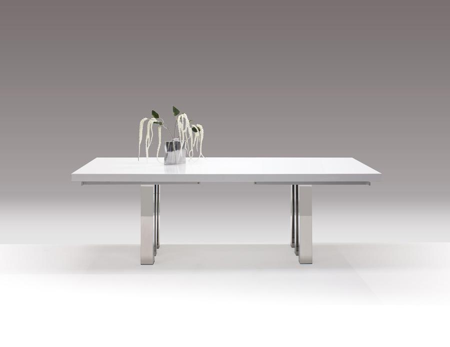 Roma White Lacquer Dining Table And Buffet In Roma Dining Tables (View 10 of 20)