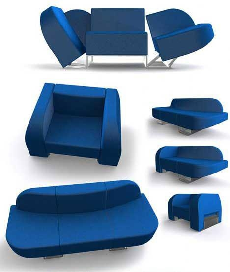 Room In A Box: 10 Pieces Of Clever Transforming Furniture | Urbanist Within Collapsible Sofas (Image 20 of 20)