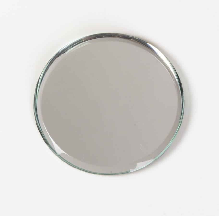 Round Beveled Mirror Centerpiece – Harpsounds (Image 8 of 20)