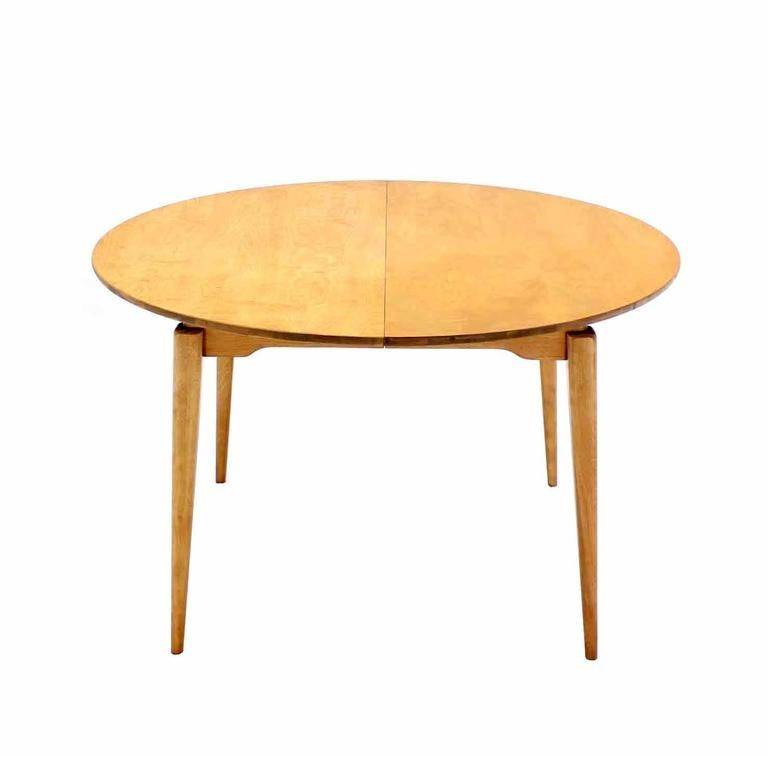 Round Birch Dining Table With Three Leaves For Sale At 1Stdibs Inside Birch Dining Tables (Image 14 of 20)