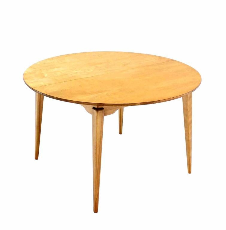 Round Birch Dining Table With Three Leaves For Sale At 1Stdibs Intended For Birch Dining Tables (Image 15 of 20)