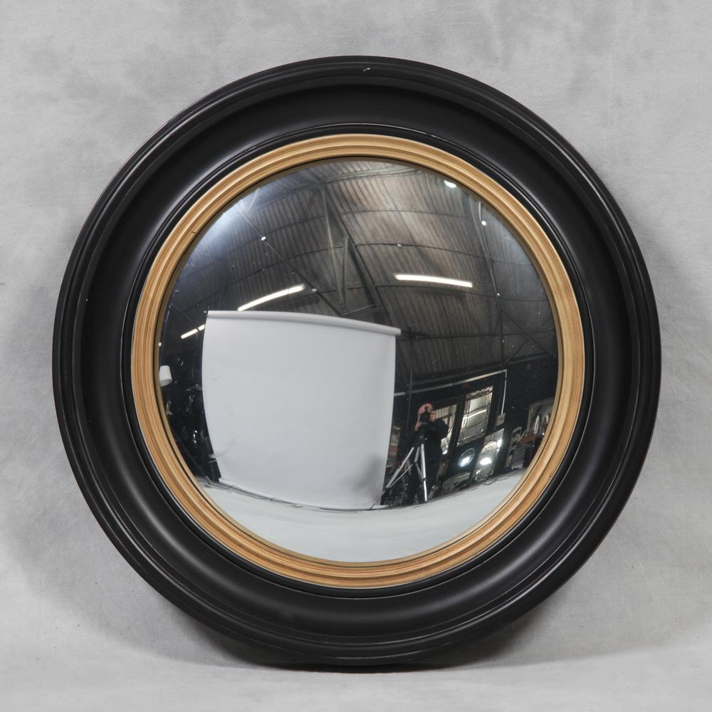Round Black Large Convex Mirror – The House In Town Pertaining To Round Convex Mirror (Image 11 of 20)