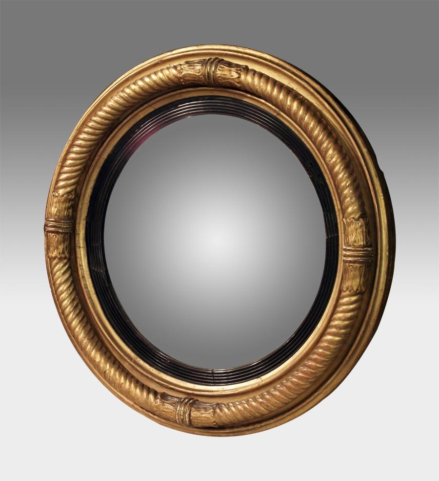 Round Convex Mirrors For Walls | Vanity And Nightstand Decoration For Round Gilt Mirror (Image 14 of 20)