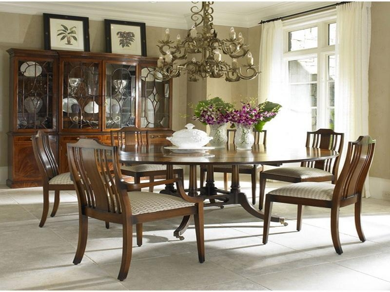 Round Dining Room Table Sets Seats 6 – Starrkingschool With Dining Table Sets With 6 Chairs (Image 16 of 20)