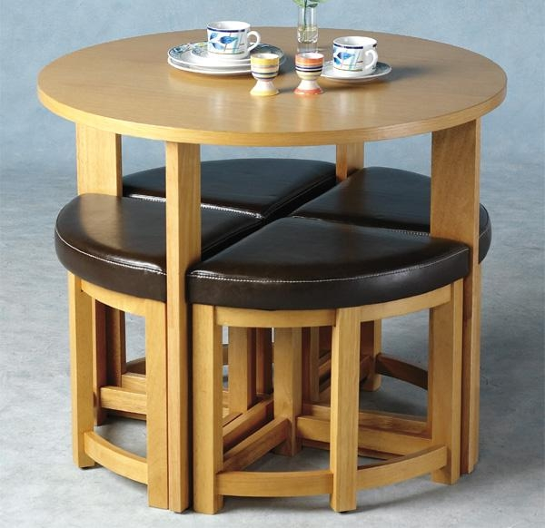 Round Dining Set Throughout Stowaway Dining Tables And Chairs (View 14 of 20)