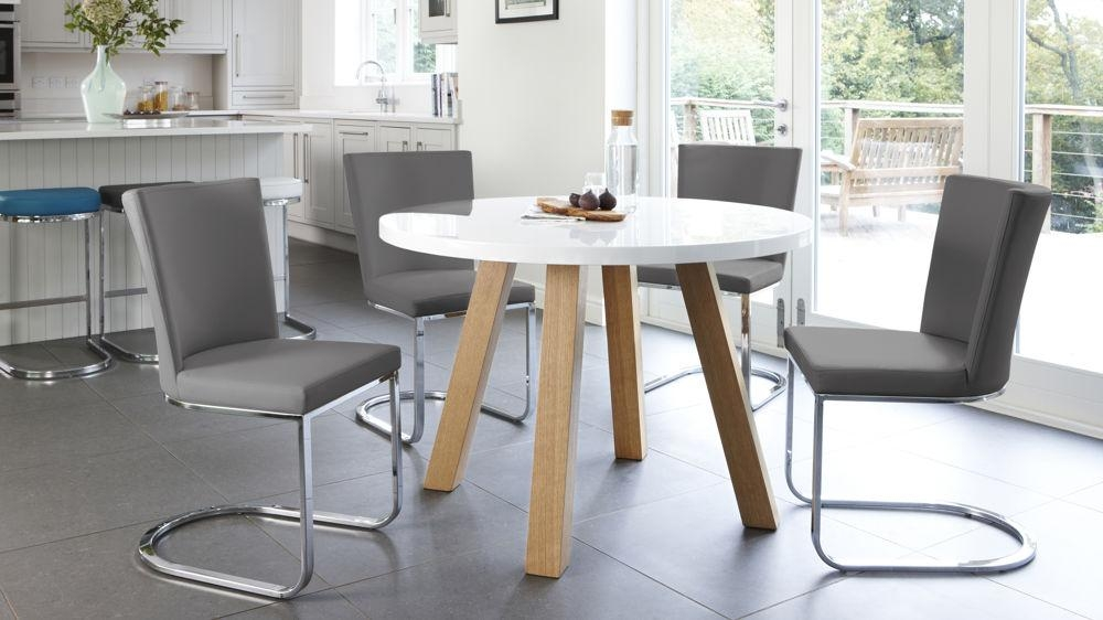 Round Dining Table And 4 Chairs Uk – Starrkingschool Regarding Oak Dining Tables And 4 Chairs (View 20 of 20)