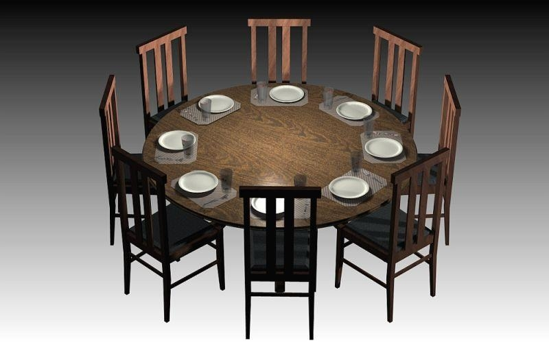 Round Dining Table Dimensions Inside 6 Person Round Dining Tables (Image 18 of 20)