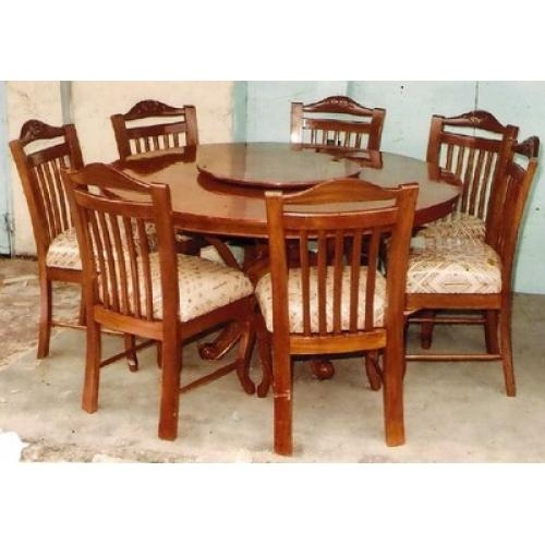 Round Dining Table For 6 Inside 6 Seater Round Dining Tables (Image 17 of 20)