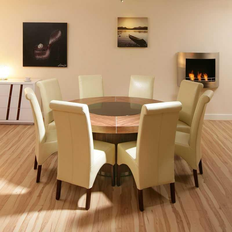 Round Dining Table For 8 People Intended For Round 6 Seater Dining Tables (Image 16 of 20)