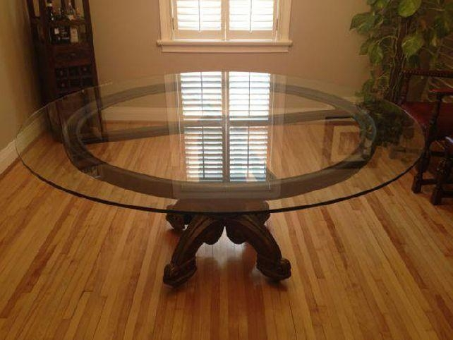 Round Dining Table Glass Top In Cappuccino Coaster (Image 15 of 20)