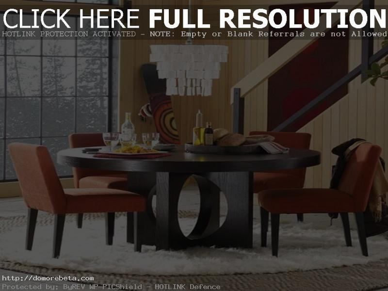 Round Dining Table Set Intended For Contemporary Dining Tables Sets (Image 19 of 20)