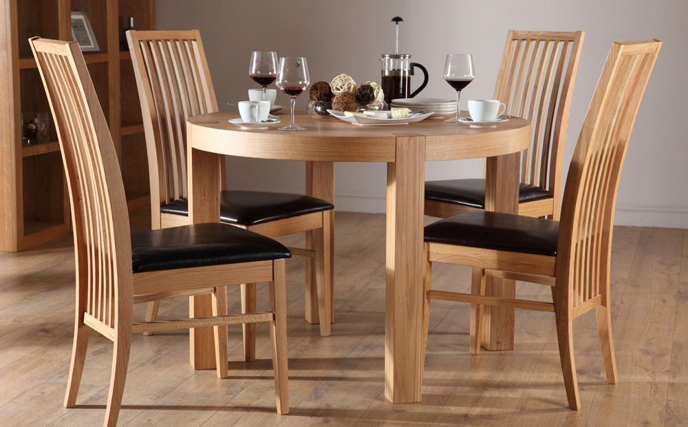 Round Dining Table Set With 4 Chairs Dining Table For 4 Dining For Oak Dining Tables And 4 Chairs (View 19 of 20)