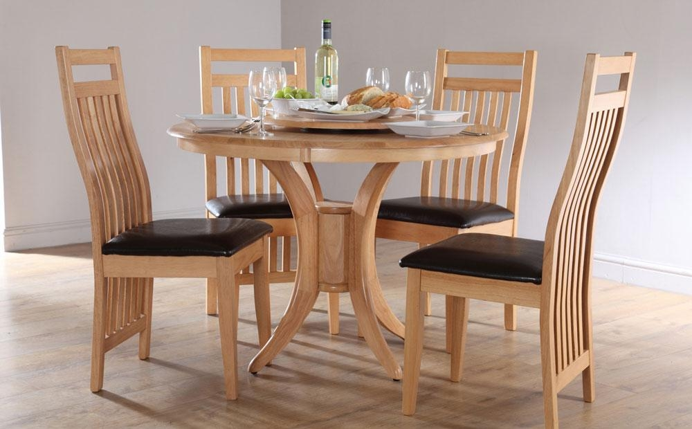 Round Dining Table Set With 4 Chairs Dining Table For 4 Dining In Small Oak Dining Tables (Image 11 of 20)