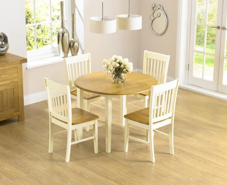 Round Extending Dining Table Sets Within Drop Leaf Extendable Dining Tables (Image 18 of 20)