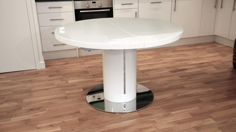 Round Extending Kitchen Table In White Extending Dining Tables (Image 16 of 20)