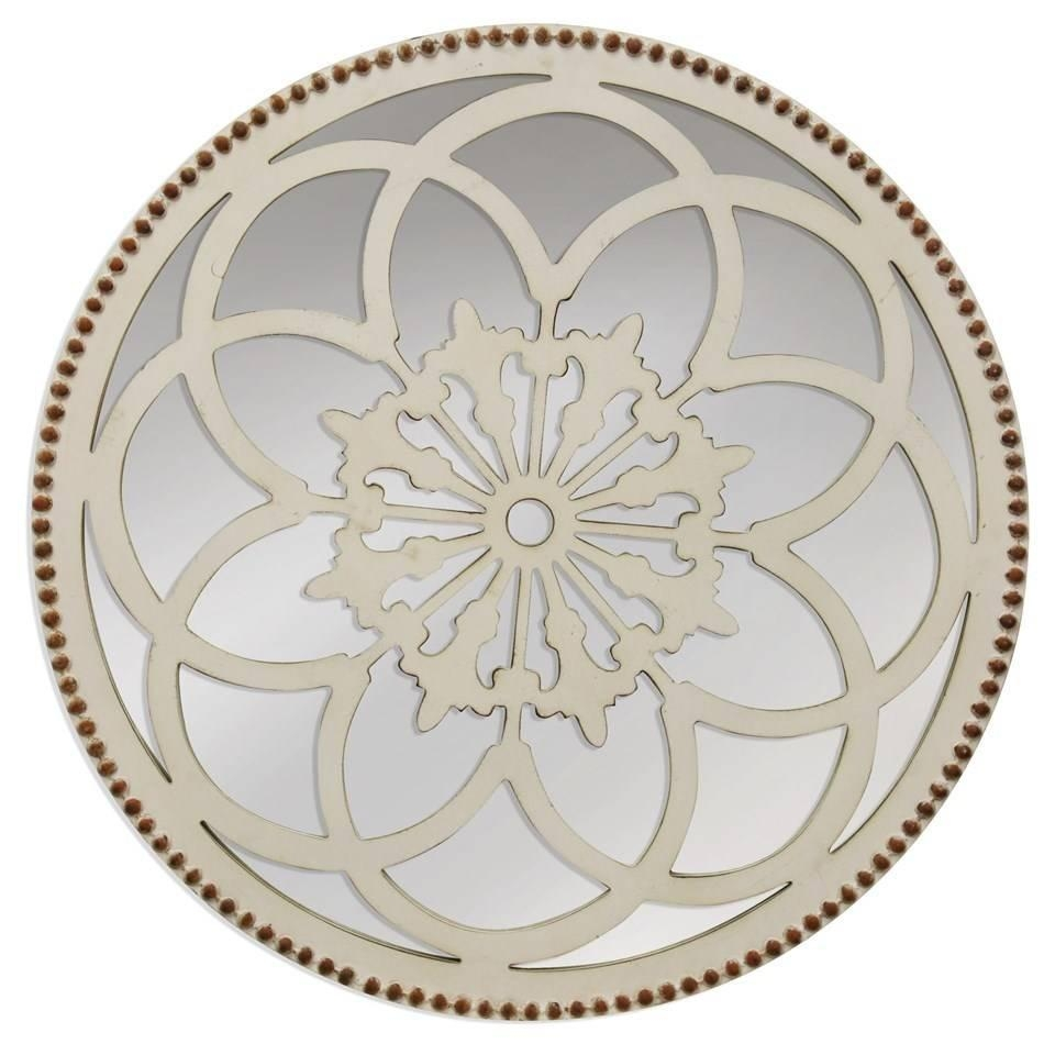 Round Flower Mirror – Beckman's Within Antique Round Mirror (Image 18 of 20)