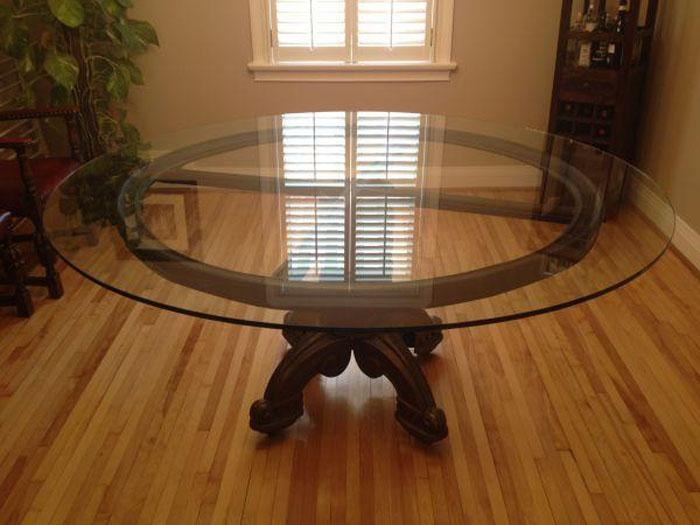 Round Glass Dining Room Table – Home Design Ideas And Pictures Regarding Large Circular Dining Tables (Image 17 of 20)