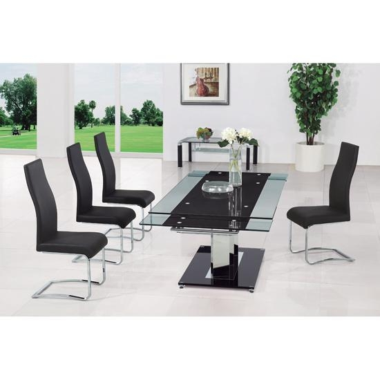 Round Glass Dining Table 8 Chairs | Bedroom And Living Room Image For 8 Seater Black Dining Tables (Image 17 of 20)