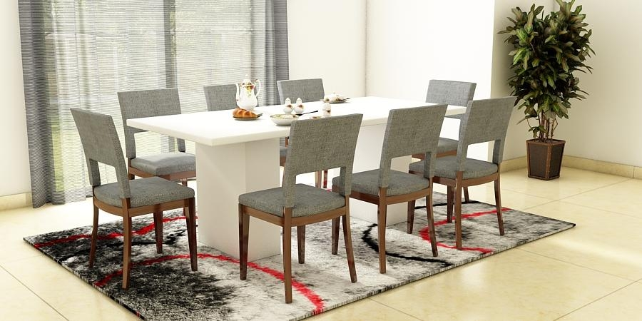 Round Glass Dining Table 8 Chairs | Bedroom And Living Room Image Pertaining To 8 Seater Dining Table Sets (Image 15 of 20)
