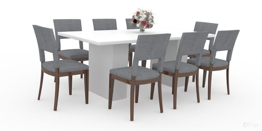 Round Glass Dining Table 8 Chairs | Bedroom And Living Room Image With Dining Tables With 8 Seater (Image 17 of 20)