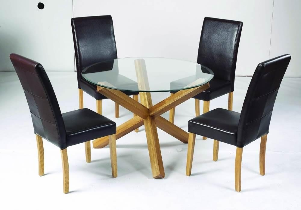 Featured Image of Round Glass And Oak Dining Tables