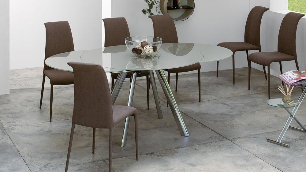 Round Glass Kitchen Table In Glass Round Extending Dining Tables (Image 16 of 20)