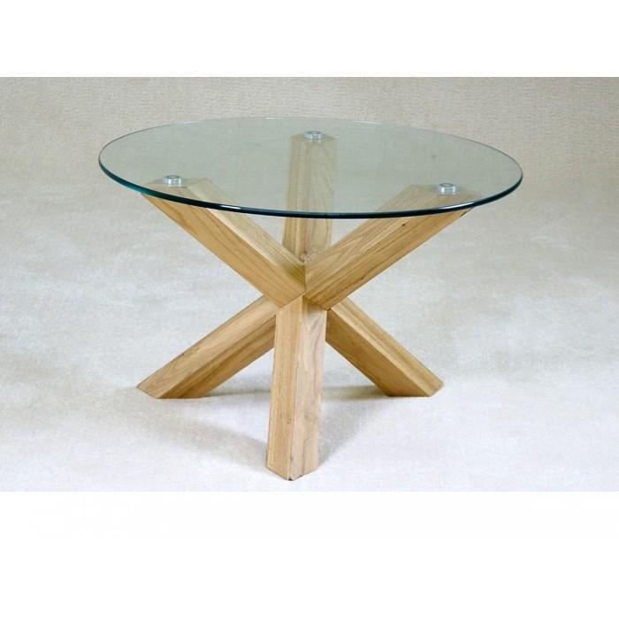Round Glass Side Tables – Starrkingschool In Glass Top Oak Dining Tables (Image 17 of 20)