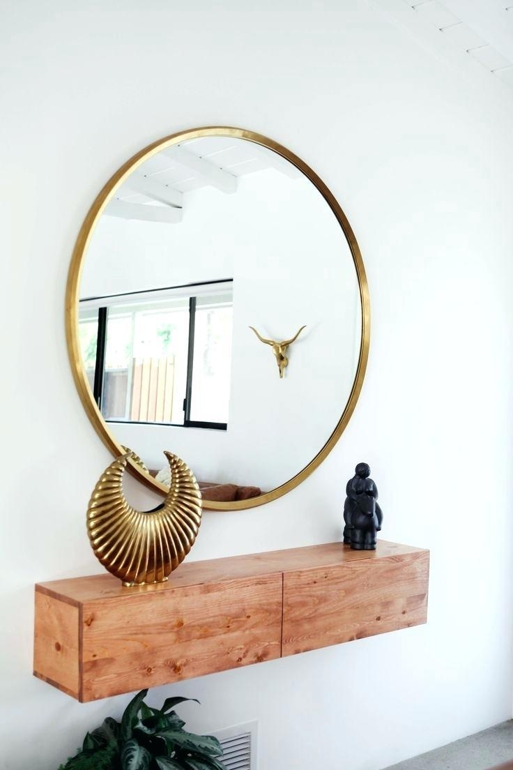 Round Gold Mirror – Shopwiz Pertaining To Gold Round Mirrors (Image 16 of 20)