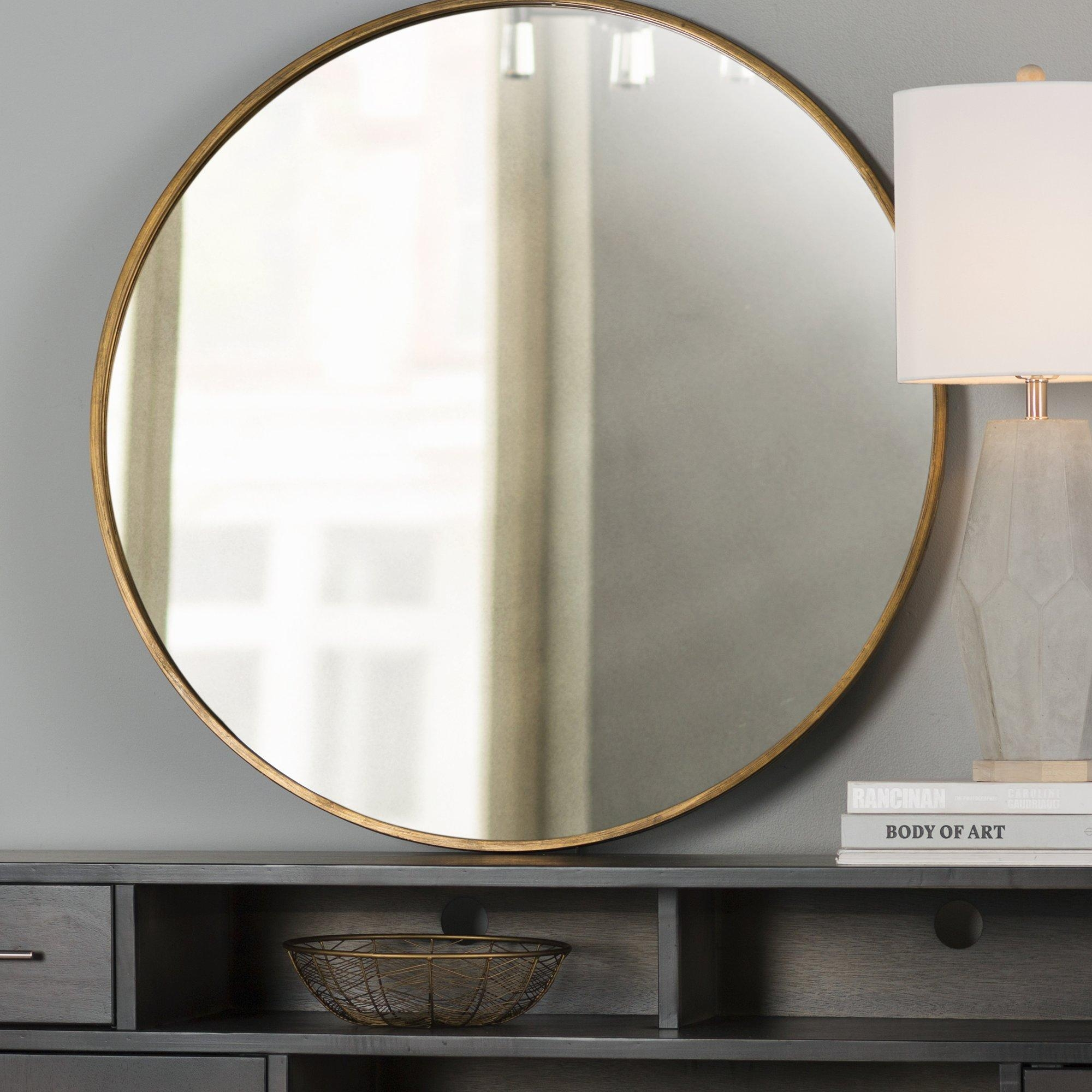 Round Mirror Decorating Ideas | Vanity And Nightstand Decoration Regarding Round Mirrors (Image 14 of 20)