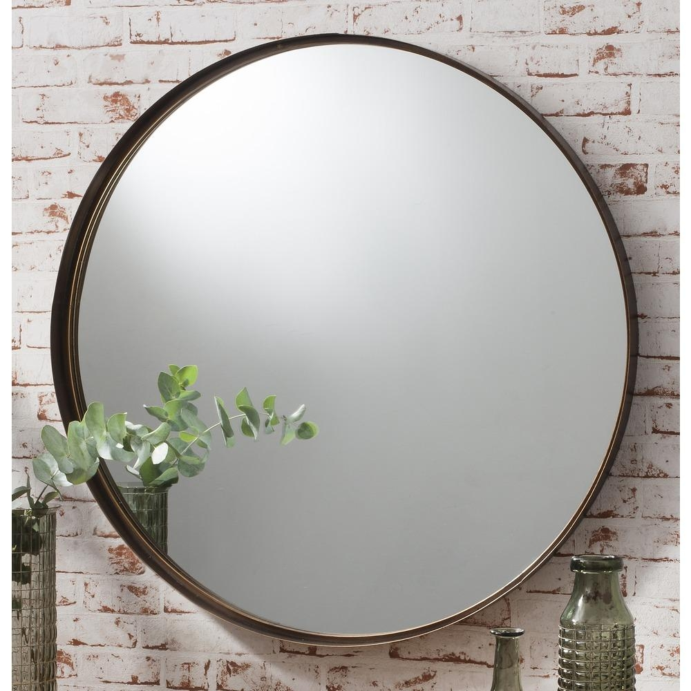 Round Mirror: Greystoke Bronze Metal Mirror | Select Mirrors Within Round Mirrors (View 11 of 20)