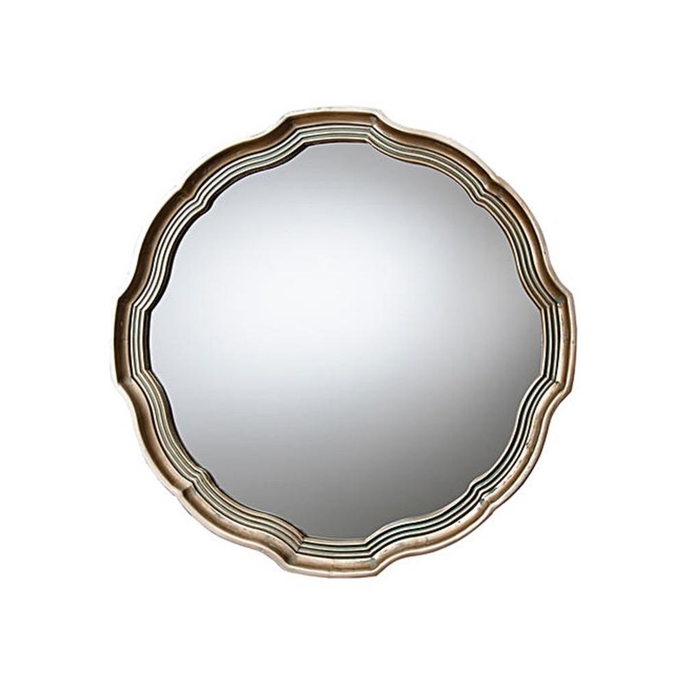Round Mirror: Kirkham Aged Gold Mirror | Select Mirrors Throughout Round Bevelled Mirror (Image 12 of 20)
