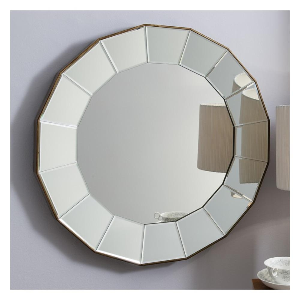 Round Mirror: Lindley Large Bevelled Mirror | Select Mirrors Throughout Large Bevelled Mirror (Image 18 of 20)