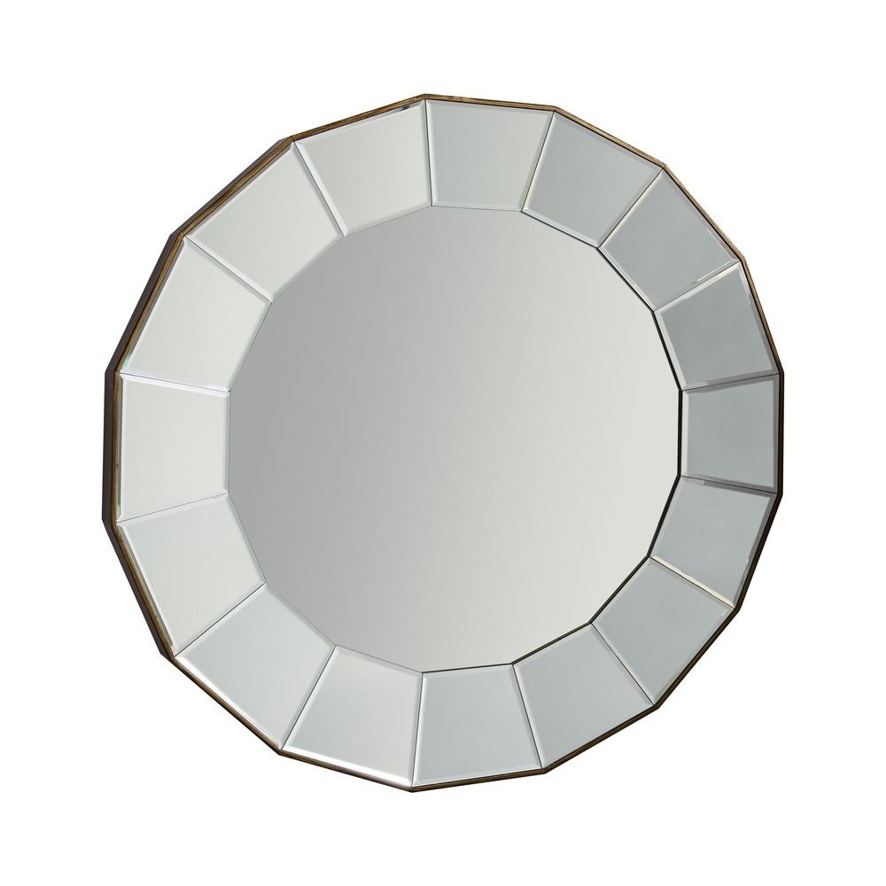 Round Mirror: Lindley Large Bevelled Mirror | Select Mirrors Throughout Round Bevelled Mirror (Image 14 of 20)