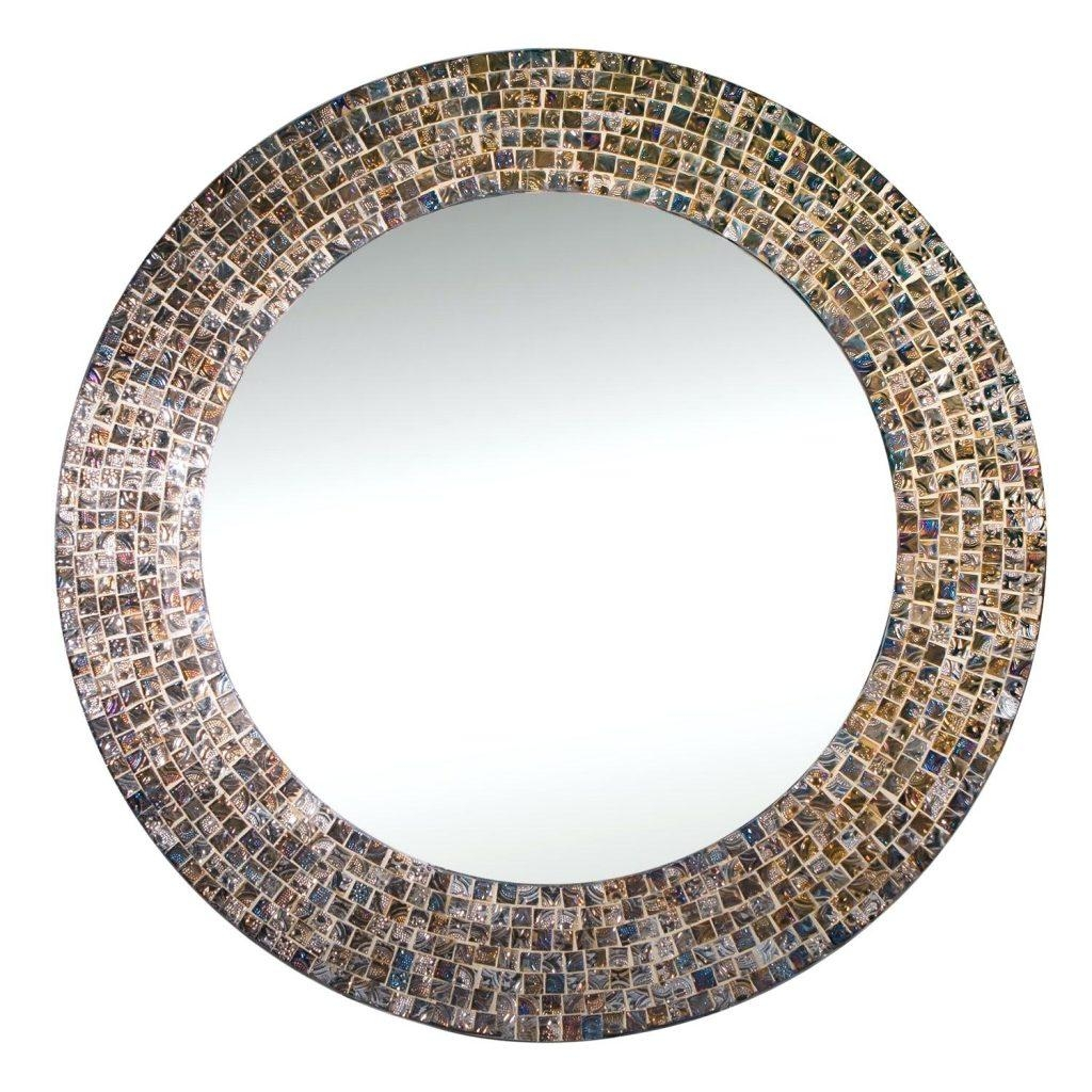 Round Mosaic Mirror Diy Mirrors Uk – Shopwiz Inside Large Mosaic Mirror (Image 18 of 20)