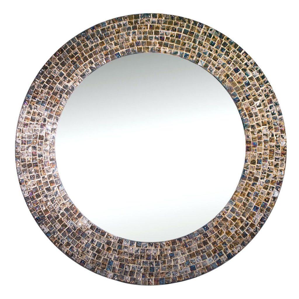 Round Mosaic Mirror Diy Mirrors Uk – Shopwiz Inside Large Mosaic Mirror (View 10 of 20)