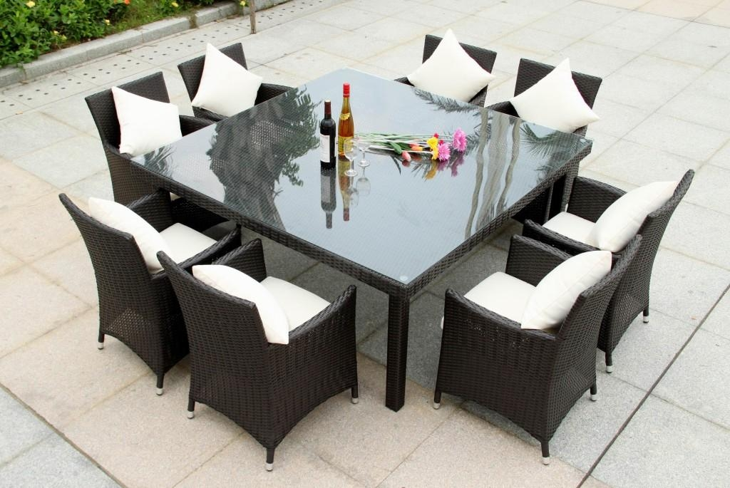 Round Outdoor Dining Set – Outdoor Dining Set Wildridge Recycled Inside 8 Seat Outdoor Dining Tables (Image 18 of 20)