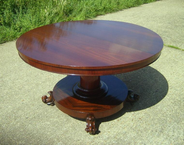 Round Pedestal Extending Dining Table With Mahogany Extending Dining Tables (Image 18 of 20)