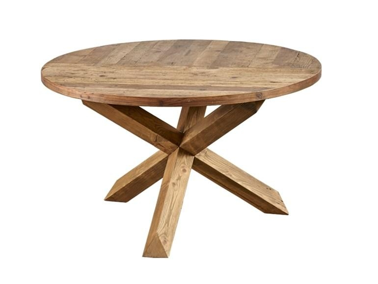 Round Reclaimed Wood Dining Table Db004134Dialma Brown For Oval Reclaimed Wood Dining Tables (View 5 of 20)