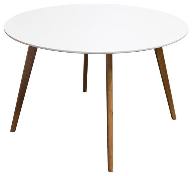 Round Retro Dining Table With Solid Oak Legs – Midcentury – Dining Pertaining To Retro Dining Tables (Image 16 of 20)