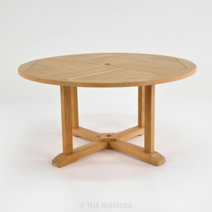 Round Teak Pedestal Table | Dining Tables | Teak Warehouse Within Round Teak Dining Tables (Image 13 of 20)