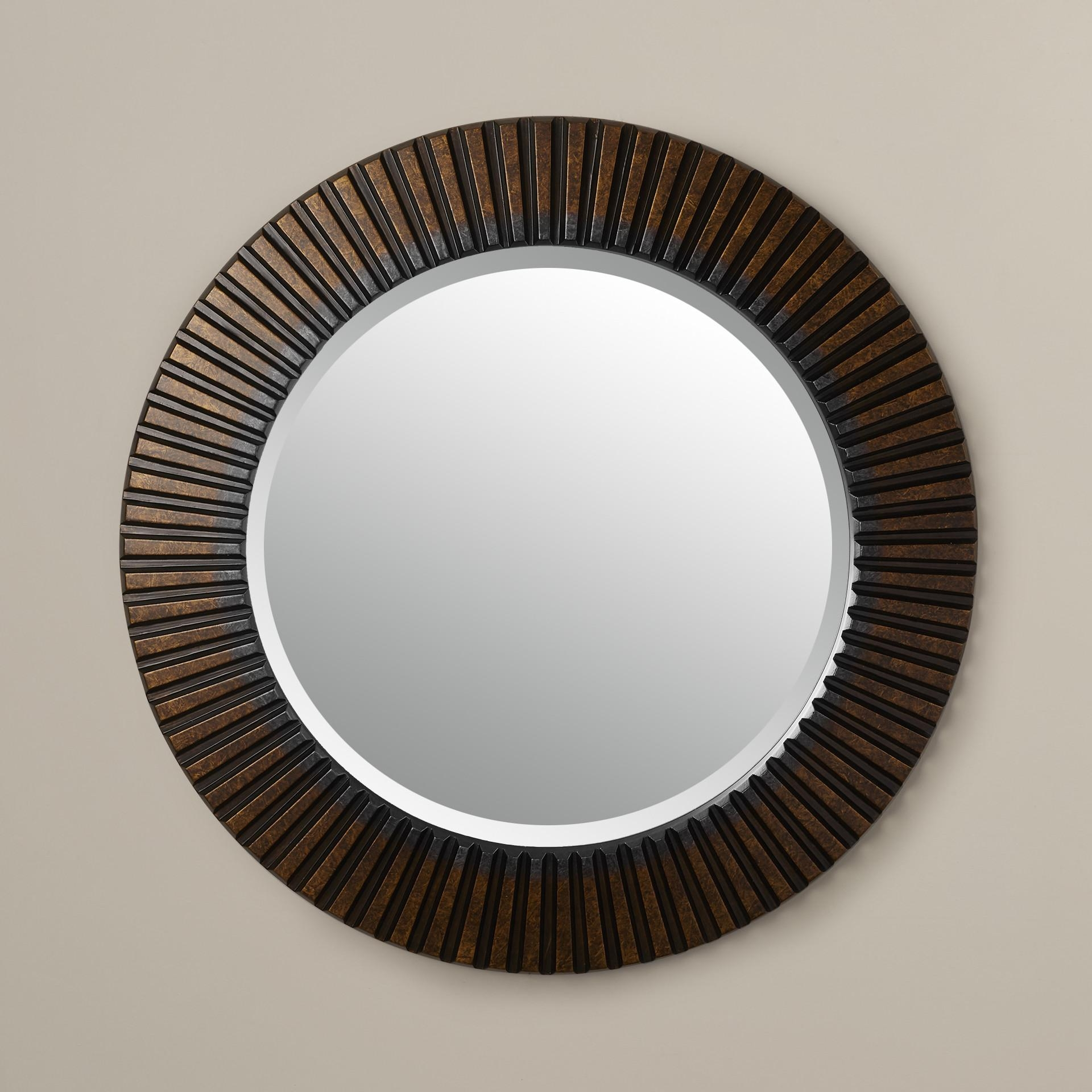 Round Wall Mirror Metal Frame – Choose The Elegant Decoration With Regarding Gold Round Mirrors (Image 17 of 20)