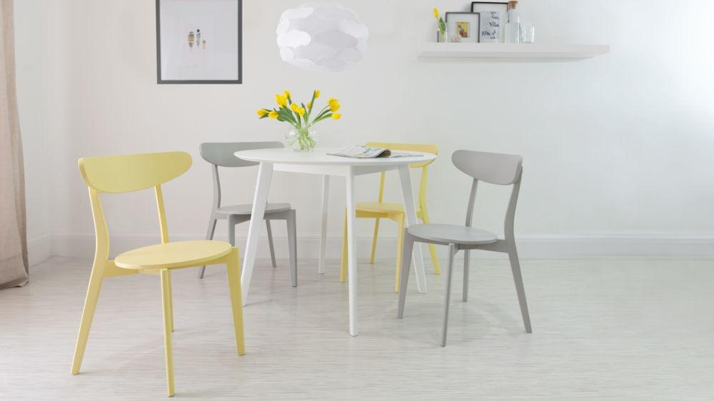 Round White 4 Seater Dining Table | Matt Finish | Uk Intended For Round White Dining Tables (View 20 of 20)