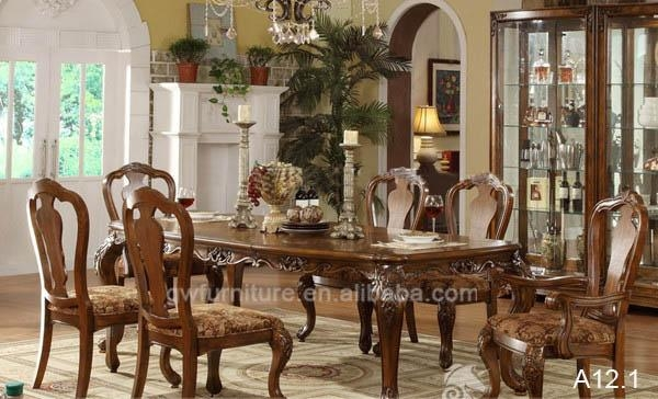 Royal Living Room American Style Wood Carved Furniture Dining Within Royal Dining Tables (Image 15 of 20)