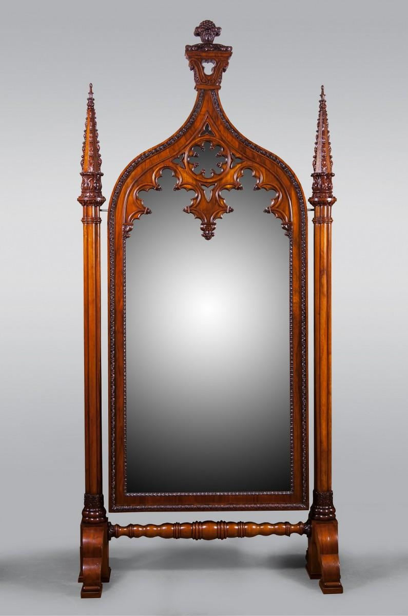 Russian Antique Salon » Russian Classicism And Neo Gothic Style Of In Gothic Style Mirror (View 6 of 20)