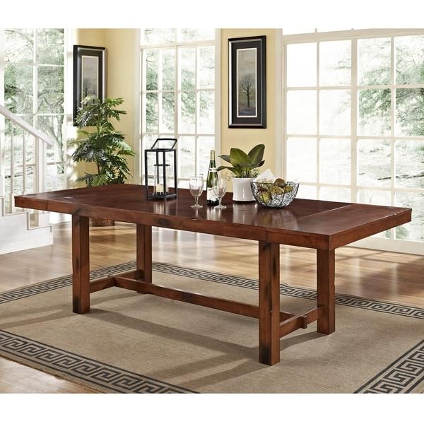 Rustic Dark Oak Wood Dining Table – Free Shipping Today In Dark Wooden Dining Tables (Image 18 of 20)