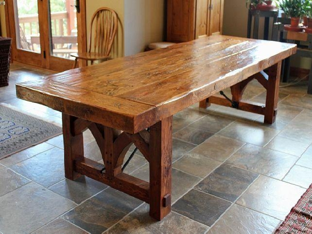Rustic Dining Room Tables With Rustic Dining Table 7 | Puchatek Inside Rustic Dining Tables (Image 17 of 20)
